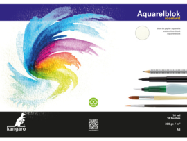 Aquarelpapier A3- 300 grams Room wit
