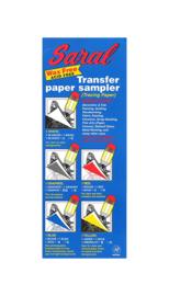 Saral Transferpapier -5 vel in 5 kleuren