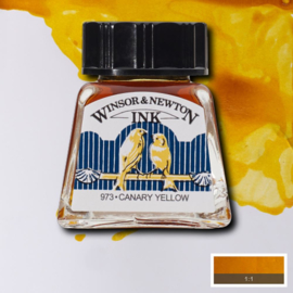 Winsor en Newton  Drawing Inkt Canary Yellow