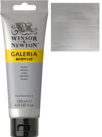 no.617- Galeria Acrylic Silver  120 ml tube