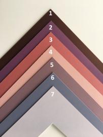 Passe-Partouts Purple  &  Violet  tinten  op maat gemaakt vanaf: