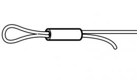 Busjes voor staaldraad van max 1 mm dik
