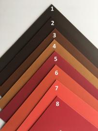 Passe-Partouts Brown & Red  tinten  op maat gemaakt vanaf: