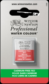 W&N Pro Water Colour ½ nap Cadmium FREE Red  S.4