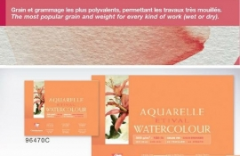 Clairefontaine Etival 300 grams Aquarelblok24x24cm 25 vel