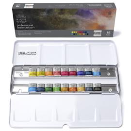 Winsor & Newton Professional Watercolour   travel tin ( 18 NAPJES)