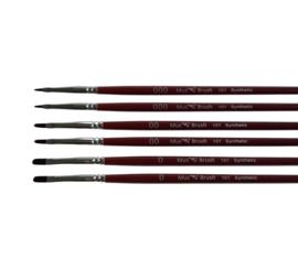 Mus-brush serie 101 Set 6 delig- kattentong synthetisch
