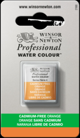 W&N Pro Water Colour ½ nap Cadmium FREE Orange  S.4