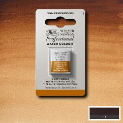 W&N Pro Water Colour ½ nap Burnt Umber S.1