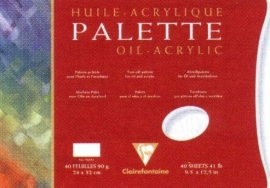 Clairefontaine Afscheurpalet 39.7x42 90 gr 40 vel