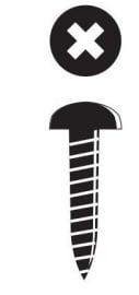 Bolkopschroef zwart 2,5 x 8 mm