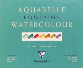 Clairefontaine Aquarelblok  GROF 24x30cm 25 vel