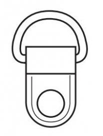 Schoefbeugel  22 mm vernikkeld