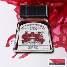 Winsor en Newton  Drawing Inkt Deep Red