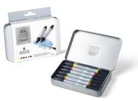Winsor & Newton Water colour marker set 6 stuks