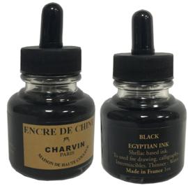 Charvin Egyptian ink- Zwart - flesje met pipetje 30  ml