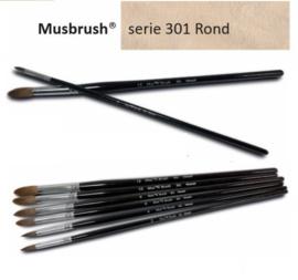 Mus Brush Serie 301 Round weasel SET 6 stuks