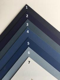 Passe-Partouts Bleu  tinten  op maat gemaakt vanaf:
