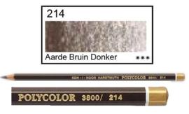 KIN-Polycolor nr.214  Aarde bruin donker
