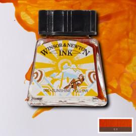 Winsor en Newton  Drawing Inkt Sunshine yellow