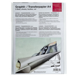 AMI Transfer papier A4 Zwart 20 vel!!