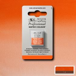 W&N Pro Water Colour ½ nap Winsor Orange (red shade) S.1