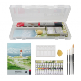 Aquarel set in kunststof box