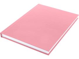 Dummy  A5 Wit papier- hard cover Roze 80 vel