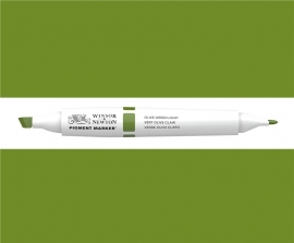 W&N Pigment marker Olive green light 085