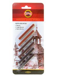 Koh-I-Noor Sepia blok 6 stuks in blister