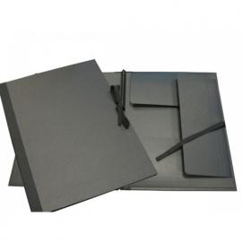 Clairfontaine tekenmap met lintjes 32x45 cm zwart