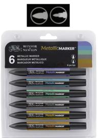 Matellic Marker Set 6 stuks