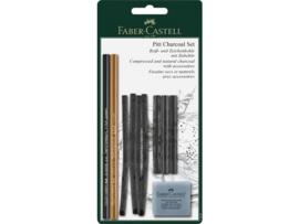 Faber-Castell houtskool Pitt Monochrome set 10 delig