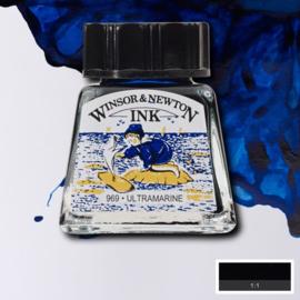 Winsor en Newton  Drawing Inkt Ultramarine