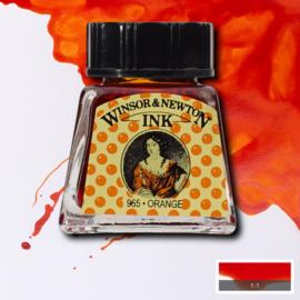 Winsor en Newton  Drawing Inkt Orange