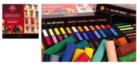 Soft Pastel Rond Set 48 halve pastels