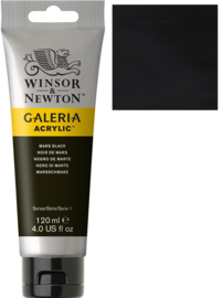 no.386- Galeria Acrylic Mars Black 120 ml tube