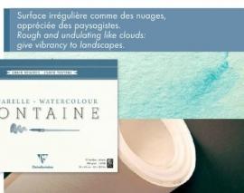 Clairefontaine Aquarelpapier  Grof-Wolkstructuur  56x76cm 300 gr. 10 vel los