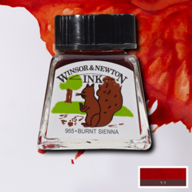 Winsor en Newton  Drawing Inkt Burnt Sienna