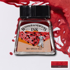 Winsor en Newton  Drawing Inkt Brick Red