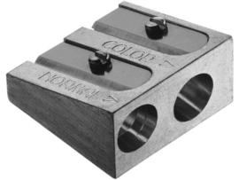 Faber Castell Puntenslijper  metaal dubbelgats p/st