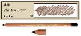 43-Pastelpotlood V. Dyk Brown