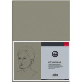 AMI   grijs/bruin recycling papier  A4 - 200 vel los