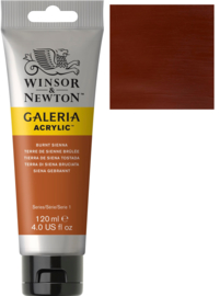 no.074- Galeria Acrylic Burnt Sienna 120 ml tube