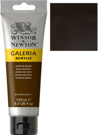 no.676- Galeria Acrylic Van Dyck brown 120 ml tube