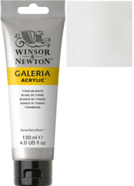 no.644-Galeria Acrylic Titanium white 120 ml tube