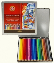 Koh-I-Noor Polycolor Kleurpotloden 24 stuks