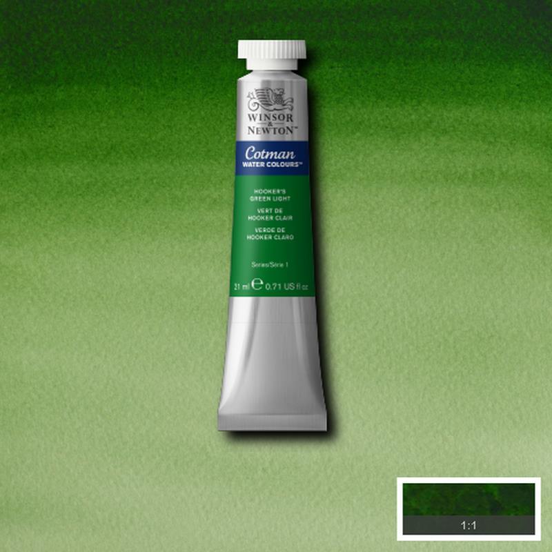 Cotman Hooker's green Light 21 ml tube
