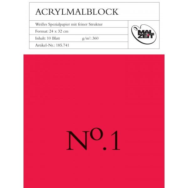 Acrylblok Nr 1  24x32 cm