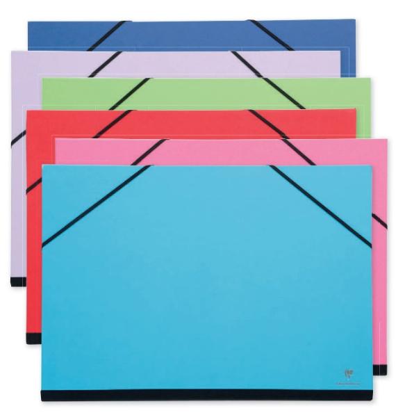 Clairfontaine tekenmap met elastiek 26x33 cm knal groen